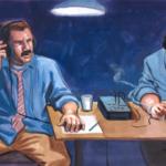 F.B.I. agents listening